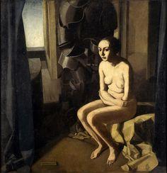 Felice Casorati, La donna e l'armatura, 1921