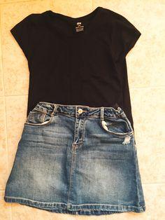 T-Shirt: H&M Skirt: Zara