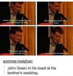 John Green at Hank's Wedding