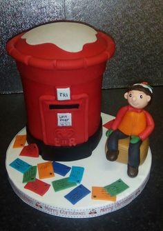 Postbox cake