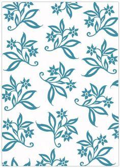 Sheena by Sheena Douglass Embossing Flolder - 5X7 - Floral Fabric