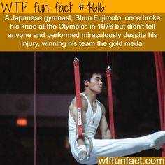 Gymnast breaks his knee and wins a gold medal at the Olympics - WTF! awesome & fun facts!