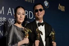 "'The Grandmaster' sweeps Asian Film Awards Martial arts fantasy ""The Grandmaster"" dominated the Asian Film Awards on Thursday with seven wins including best movie, as its emotional director mourned the film s stuntman who was on the missing Malaysian jetliner.  India s ""The Lunchbox"" was the only other film to win multiple prizes at the star-studded event at Macau s City of Dreams casino resort, winning awards for best actor and screenwriter."