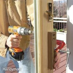 Install a new, efficient patio door and stop drafts, save energy, eliminate leaks and restore smooth operation. We walk you through all the steps, including the critical flashing details. And you can save 300 dollars if you do it yourself. Screen Door Repair, Sliding Screen Doors, Exterior Cladding, Exterior Doors, Sliding Glass Door Replacement, Patio Door Curtains, Porch Doors, Front Doors, Garage Doors