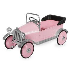 Our Pink Princess Pedal Car is perfect for your Little Princess! See her eyes light up when she take her car out for a ride.