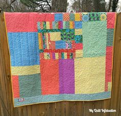 "Love a pieced back! In Louisiana, there is a French word, ""lagniappe"" (pronounced lan-yap), which means ""a little something extra.""  A pieced back is just a littlr bit of lagniappe for the recipient.  -My Quilt Infatuation"