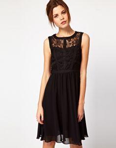 Warehouse Lace Bodice Dress