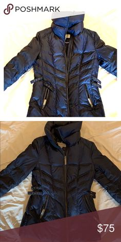 e9e6429cb40da Marc New York down jacket Navy blue Down jacket with fitted sides. Warm and  in