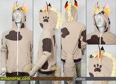 Original Character Hoodie: Cookie Order your own Custom Hoodie of your own creation or Character Hoodie at http://www.lemonbrat.com/customs/
