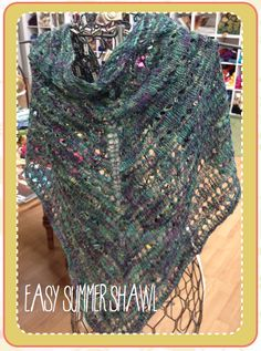 Easy Summer Shawl pattern free at Tangle.