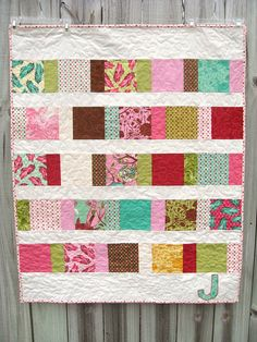 Cute scrap quilt.  Another lovely quilt from Kelly at kelbysews, found at http://www.flickr.com/photos/kelbysews/5432041746/in/set-72157624004017109/