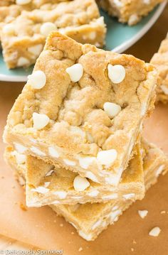 White Chocolate Blondies- very good recipe, although the cooking time took a bit longer than expected