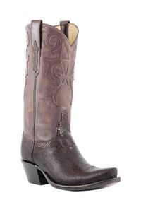 #Lucchese Classics - Style L4151, Women's Cowboy: Stingray #Boots with Victoria Collar in Shaved Coffee