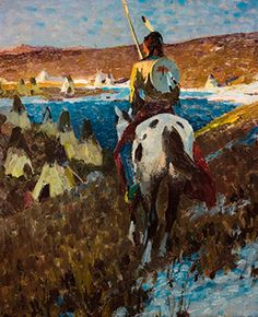 Eaton Collection of Native American Art and Western Paintings | Maine Antique Digest #beauty #art #NativeAmerican #N8tiveArts