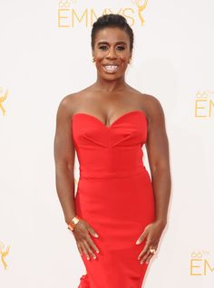 Actress Uzo Aduba attends the 66th annual Primetime Emmy Awards at Nokia Theatre L.A. Live on August 25, 2014 in Los Angeles, California.