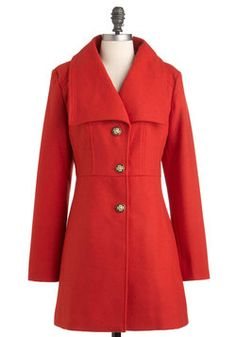 Very Important Persimmon Coat, #ModCloth