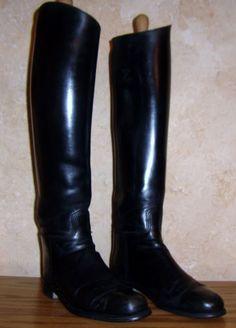 Dehner Dress Custom Riding Boots Mens 10 5 Black Tall