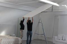 Nello & Lorenzo teamworking for a new projection mapping installation in our office!