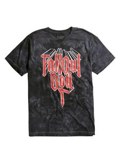 """Ride the wave of Fall Out Boy's new <i>Mania</i> vibe with this black cloud wash T-shirt. Only for the Overcast Kids who have gone way too fast for way too long.<div><ul><li style=""""list-style-position: inside !important; list-style-type: disc !important"""">100% cotton</li><li style=""""list-style-position: inside !important; list-style-type: disc !important"""">Wash cold; dry low</li><li style=&qu..."""
