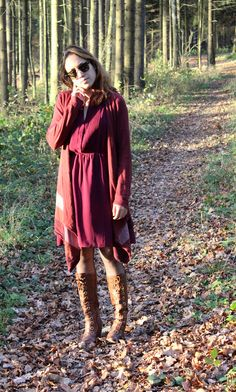 #burgundy #layers #boots #fall