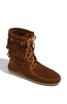 d746b91025a97 online shopping for Minnetonka  Tramper  Double Fringe Moccasin Boot  (Women) from top store. See new offer for Minnetonka  Tramper  Double  Fringe Moccasin ...