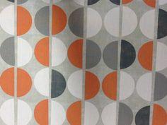 Tissus coton vintage avec demi cercles en 1.50m de large : Tissus Ameublement par tiss-affaires
