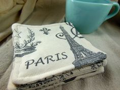 Paris fabric coasters from Etsy