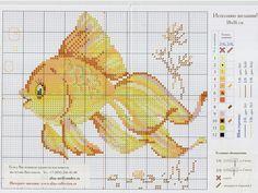 Cute goldfish cross stitch