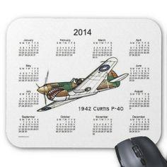 Vintage Airplane 2014 Calendar Mousepad Design from Calendars by Janz