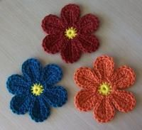 Colorful Yarn Flower - Free pattern