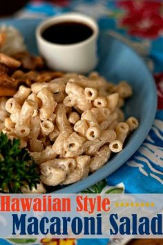 Hawiian style macaroni salad