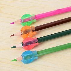 8pcs niños de ultra control de las ayudas de escritura a mano lápiz bolígrafo derecho e izquierdo de agarre suave mano
