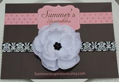 Baby HeadbandBlack and White by SummersInspirations on Etsy, $9.50