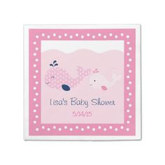 Mod Pink Whale Disposable Napkin