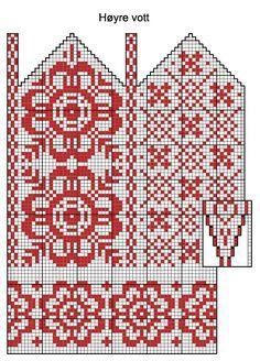 New knitting patterns mittens charts Ideas Knitting Charts, Knitting Stitches, Knitting Designs, Knitting Patterns Free, Knitting Projects, Knitting Socks, Hand Knitting, Stitch Patterns, Knitted Mittens Pattern