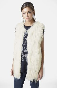 Topshop Faux Fur Gilet Vest available at #Nordstrom
