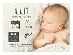 Newborn Stats Birth Announcement - Custom Birth Stats on Etsy, $15.00