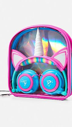 Justice is your one-stop-shop for on-trend styles in tween girls clothing & accessories. Shop our Light Up Unicorn Headphones. Unicorn Room Decor, Unicorn Rooms, Unicorn Bedroom, Unicorn Gifts, Light Up Unicorn, Rainbow Unicorn, Unicorn Birthday, Unicorn Party, Cute Headphones