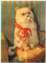 Rudi Hurzlmeier , cute! Cat and rabbit