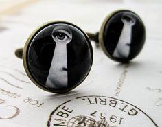 Fornasetti Keyhole Cufflinks  Vintage Eye Key by DubiousDesign, £12.50