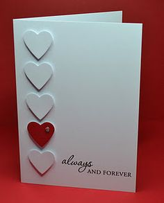 clean & simple valentine card...