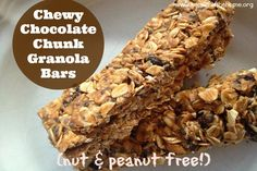 Chewy Chocolate Granola Bars (nut-free!)
