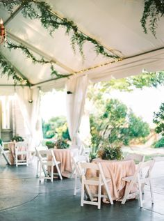Organic outdoor lush garden wedding reception: http://www.stylemepretty.com/connecticut-weddings/waterford/2016/09/30/an-elegant-coastal-wedding-thats-quintessentially-summer/ Photography: Perry Vaile - http://perryvaileblog.com/