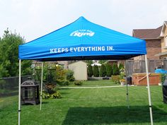 This 10 foot X 10 foot tent is a great way to promote your product or business outdoors. Stay out of the sun or rain. Small Business Solutions, Trade Show, Gazebo, Tent, Rain, Outdoors, Outdoor Structures, Outdoor Decor, Design