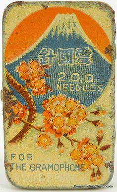 Gramophone needles tin