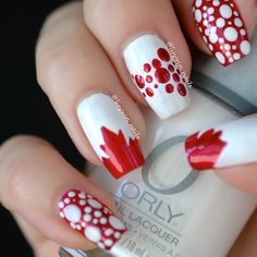 canada day nail art - Google Search