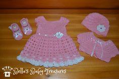 Baby girl dress set by BellasBabyTreasures on Etsy