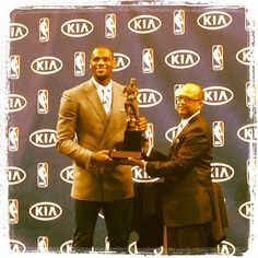 Miami HEAT ‏ @MiamiHEAT  .@KingJames is presented with his 3rd MVP trophy in the last 4 seasons! Congratulations, LeBron!
