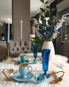 I Love Coffee, My Coffee, Coffee Cafe, Coffee Drinks, Turkish Coffee, Dinner Table, Food Presentation, Table Settings, Diy