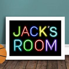 Made in Britain Personalised Kids Neon Sign Print – A fun, colourful personalised print inspired by neon letters. Our fabulous neon sign print is the perfect gift to brighten up a wall in a child's bedroom (or any room if you're a neon fan!) Choose from multicoloured letters, all blue or all pink versions. We can personalise the print with up to two lines of text – keeping it short and sweet works best for this style, see the photos for examples. This large (A3) print is supplied unframed…